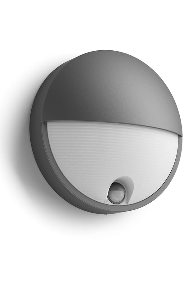 Image of   Philips Capricorn Væglampe LED Antracit m. sensor