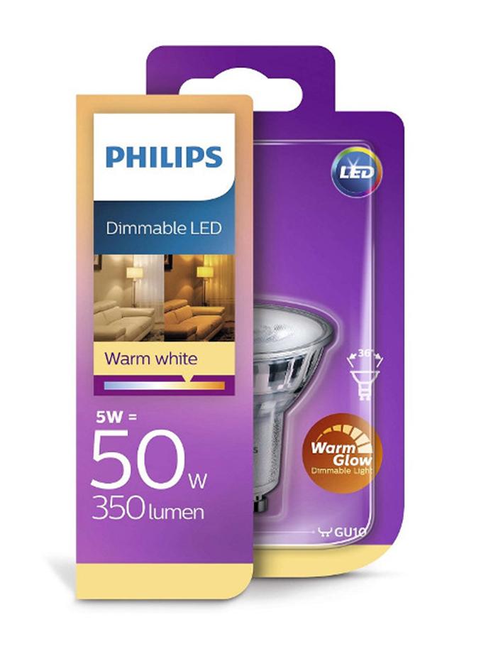 Image of   GU10 - Philips LED Spot - 3.8W - Warm Glow - CRI  90