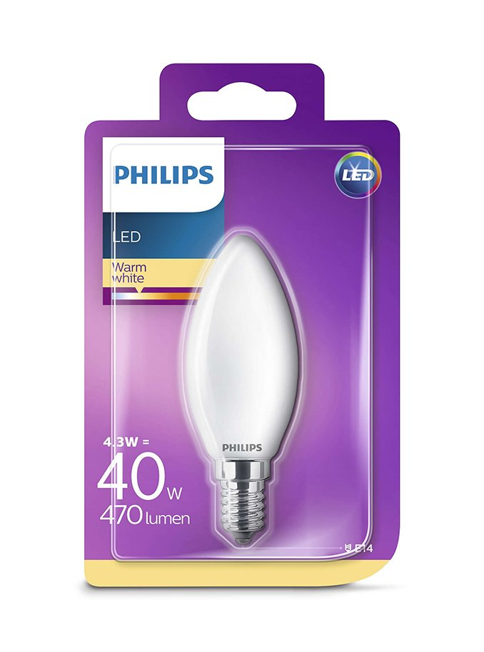Image of   E14 - Philips Kerte LED - 4.3W
