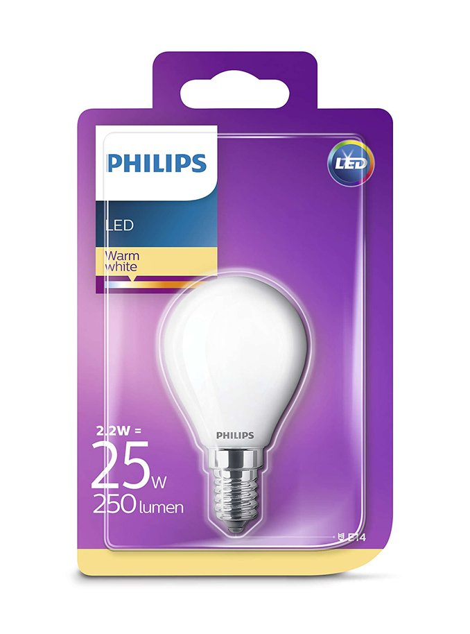 Image of   E14 - Philips LED Krone Pære - 2.2W