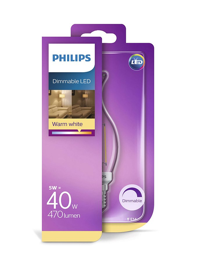 Image of   E14 - Philips Kerte LED (flamme) - 5W