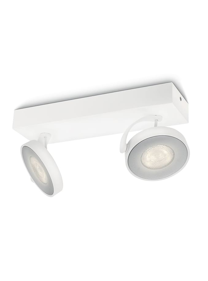 Philips myLiving Clockwork Spot LED 2 stk Hvid