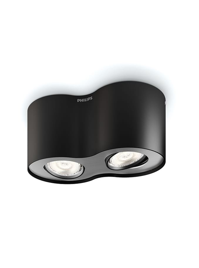 Philips myLiving Phase Spot LED 2 stk Sort