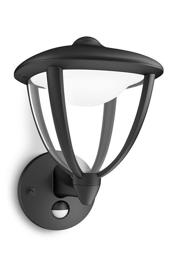Image of   Philips myGarden Robin Væglampe LED Sort m. sensor