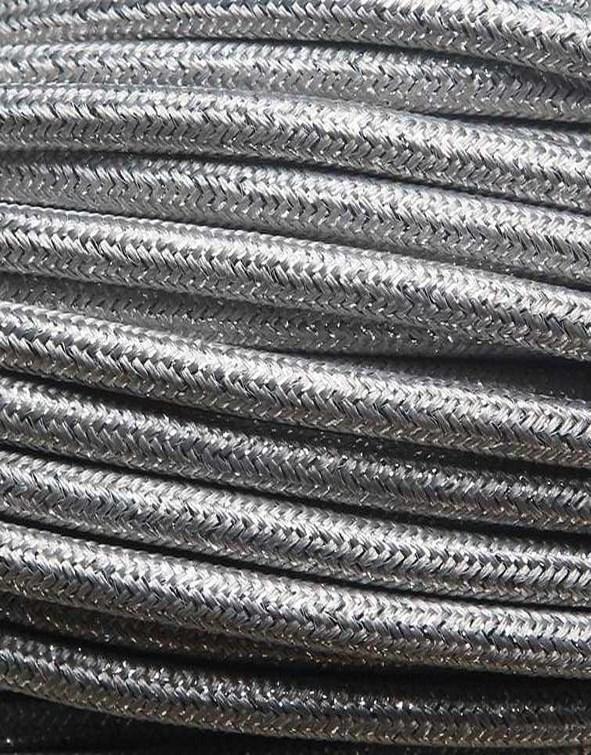 Image of   Sølv glimmer stofledning