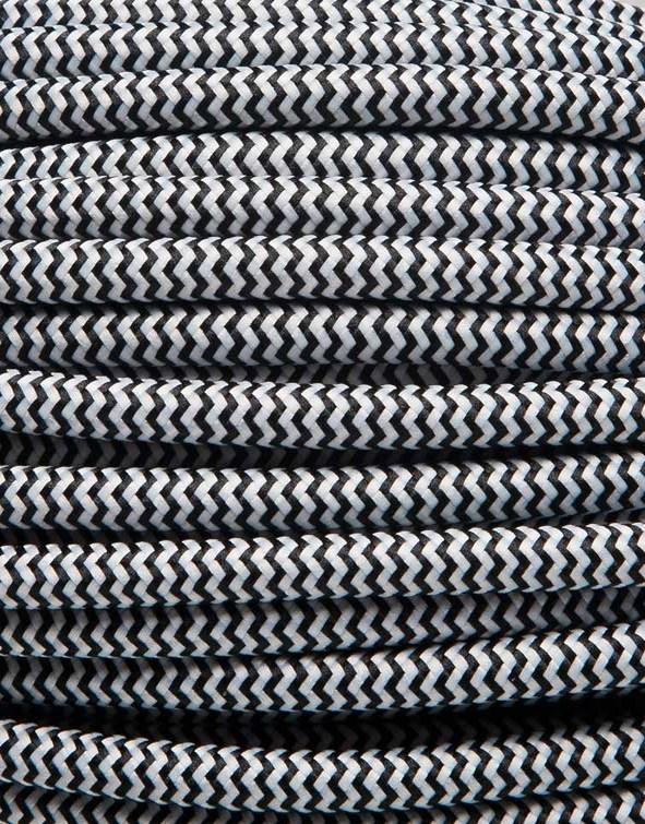 Image of   Sort zig-zag stofledning
