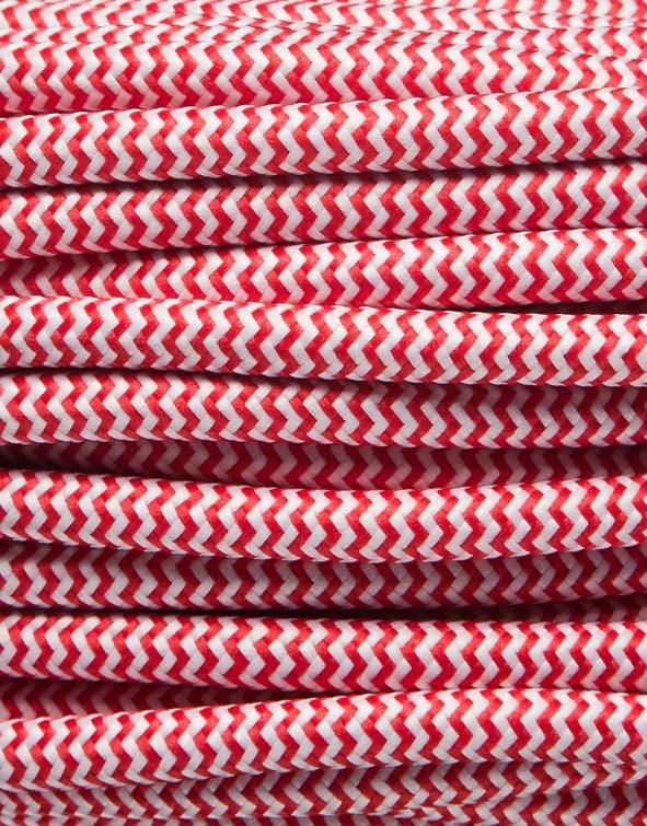 Image of   Rød zig-zag stofledning