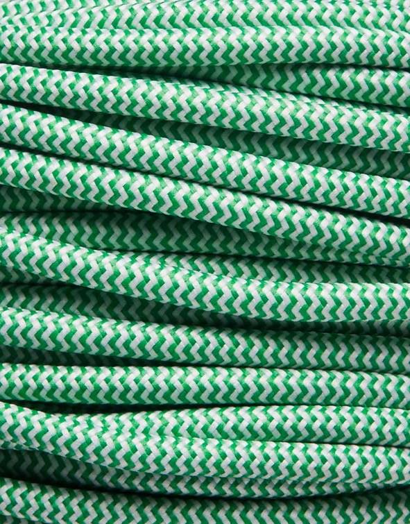 Image of   Grøn zig-zag stofledning