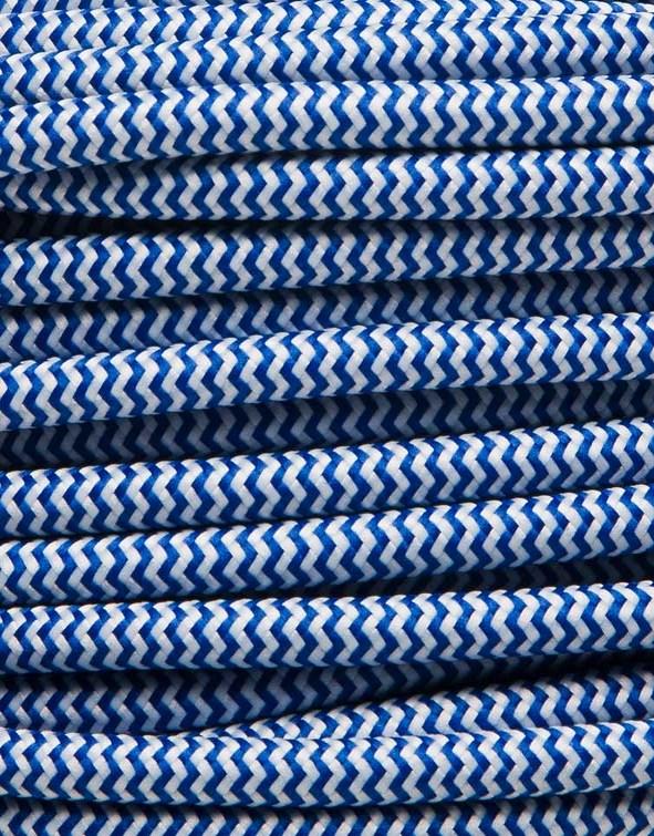 Image of   Blå zig-zag stofledning
