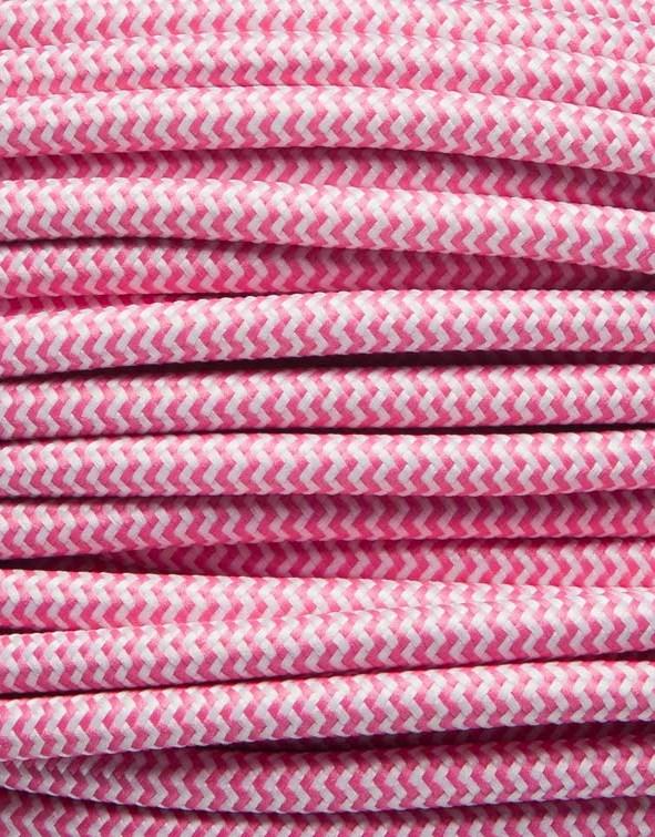 Image of   Pink zig-zag stofledning