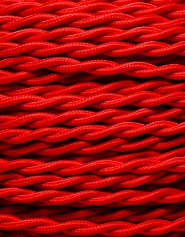 Image of   Rød snoet stofledning