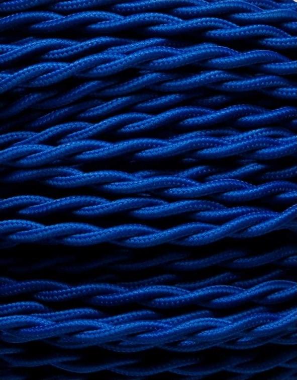 Image of   Blå snoet stofledning