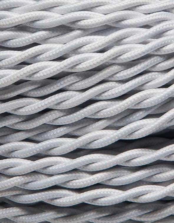 Image of   Hvid snoet stofledning