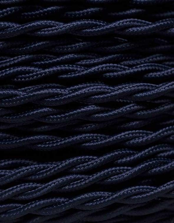 Image of   Mørkeblå snoet stofledning
