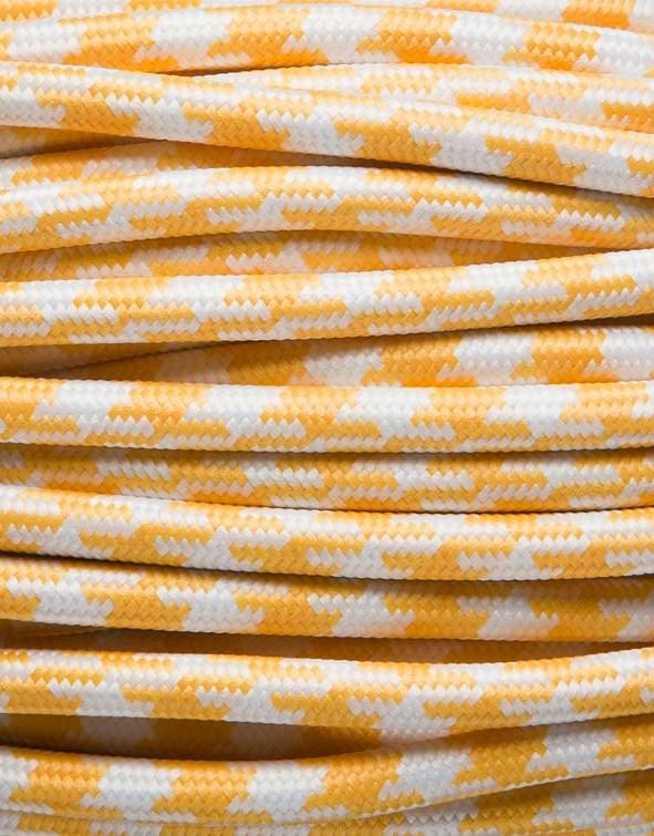 Image of   Gul tofarvet stofledning