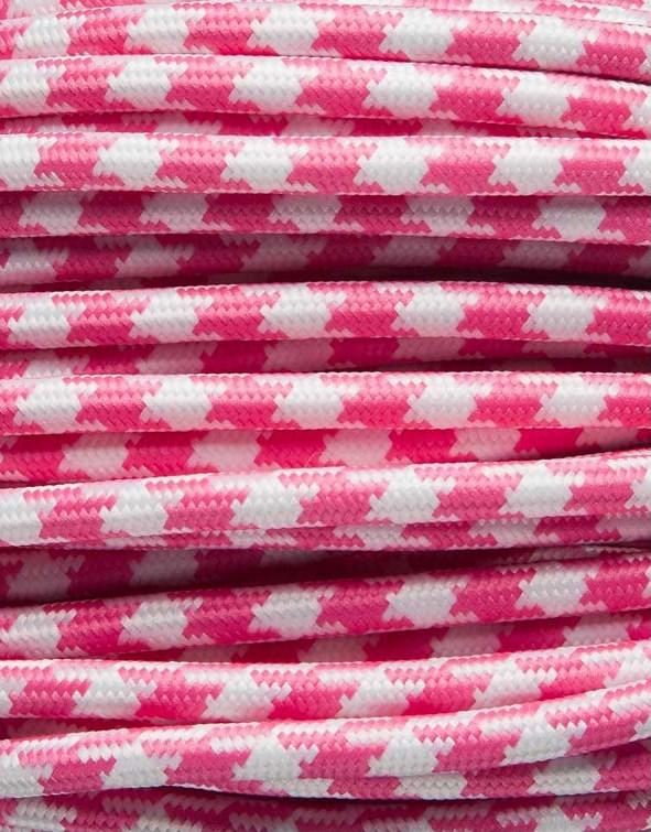 Image of   Pink tofarvet stofledning