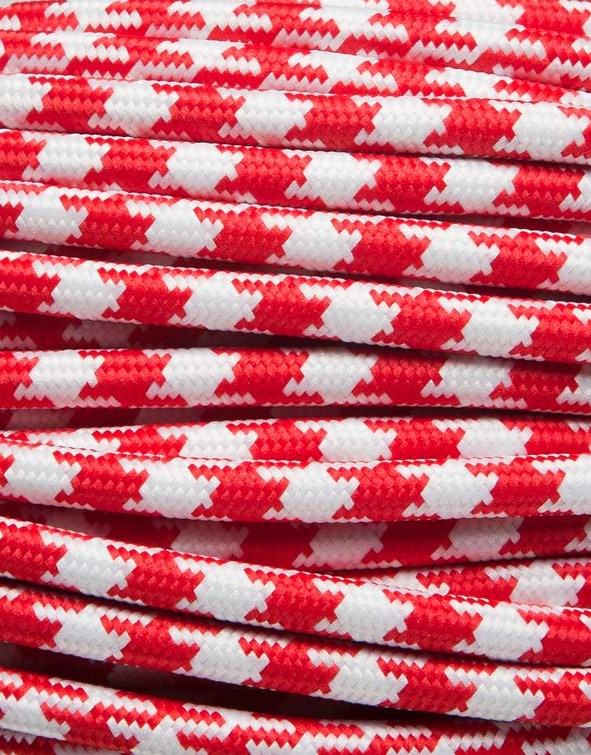Image of   Rød tofarvet stofledning