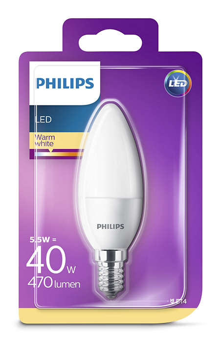 Image of   E14 - PHILIPS KERTE - 5,5W