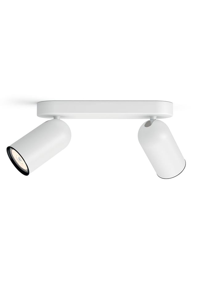 Philips Myliving Loftlampe Med Spot Paisley Hvid
