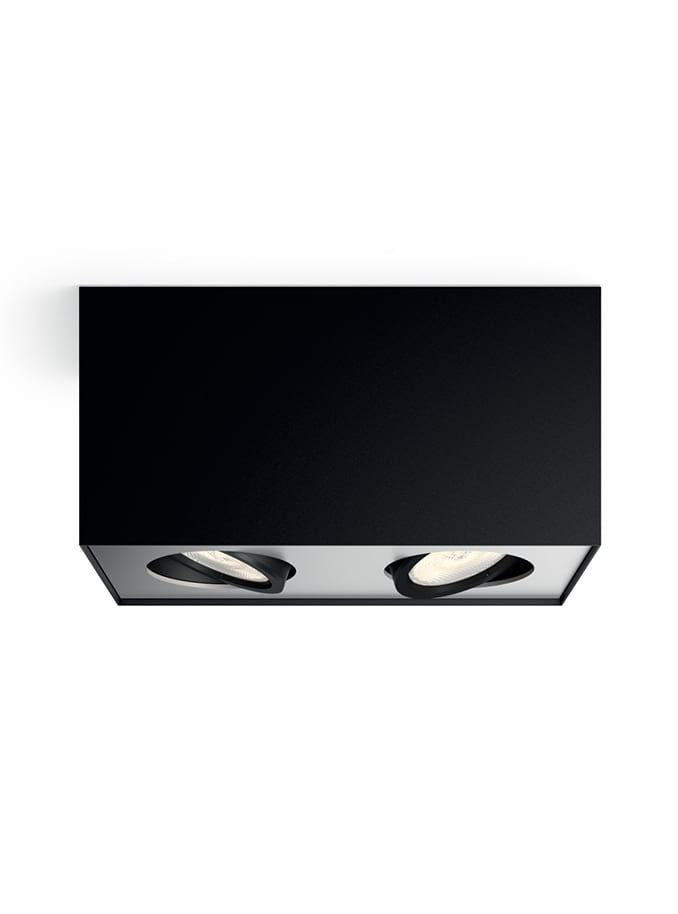 Philips myLiving Box Spot LED 2 stk Sort