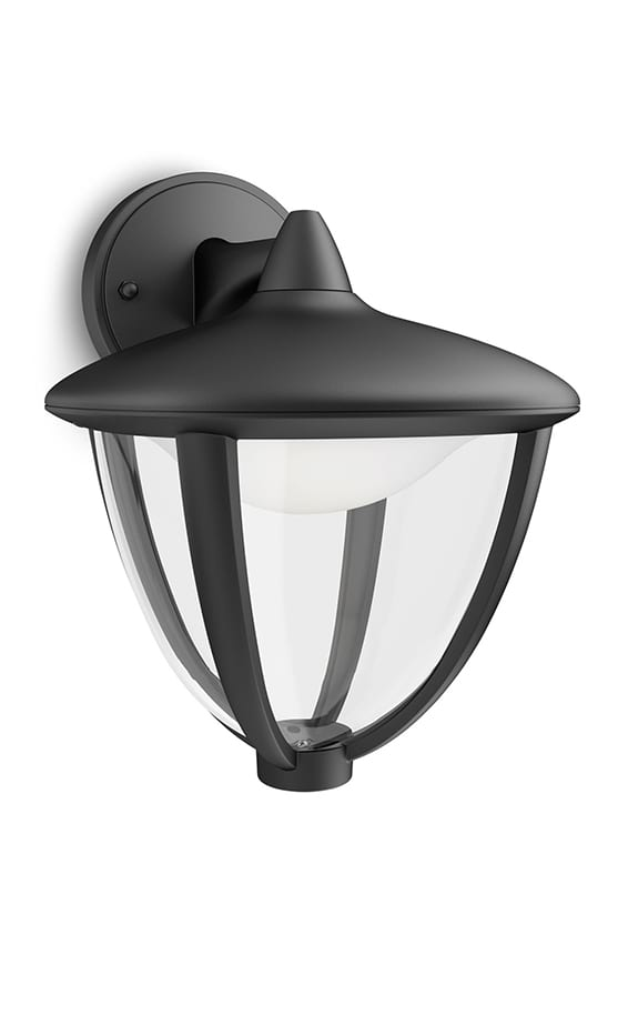 Image of   Philips myGarden Robin Væglampe LED ned Sort