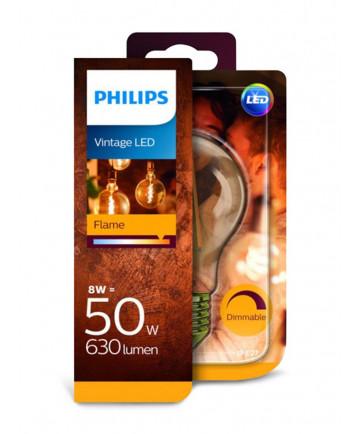 E27 - Philips Flame LED Pære - 8W