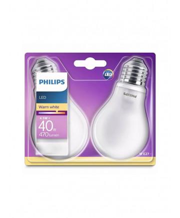 E27 - Philips Classic LED - 4.5W - 2-pak