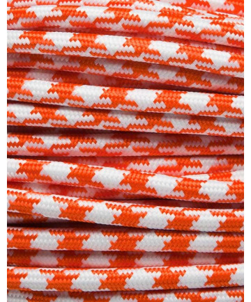 Orange tofarvet stofledning