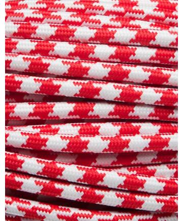 Rød tofarvet stofledning