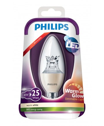 E14 - PHILIPS Kerte LED - 4W - Dæmpbar
