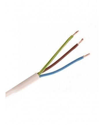 Hvid downlight kabel, 3G1.5 - Blød