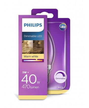 E14 - Philips Kerte Pære - 5W