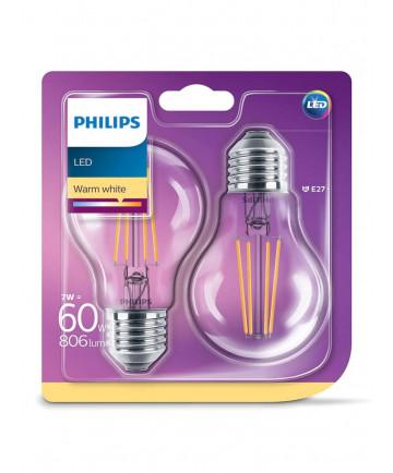 E27 - 2-pak LED pærer - 7W