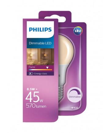 E27 - Philips LED Classic Pære - 8.5W
