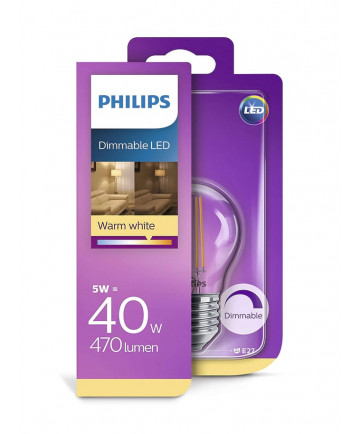 E27 - Philips LED Kronepære - 5W