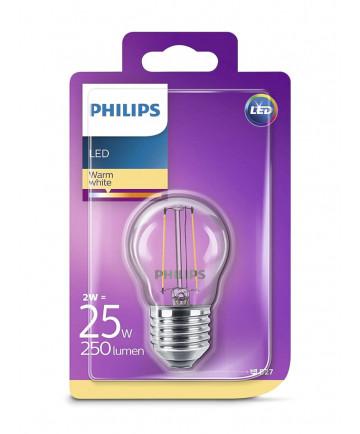 E27 Philips Kronepære 2W