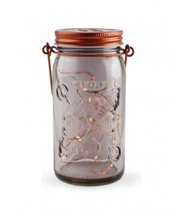 Tivoli LED Glas Lanterne - Kobber - Smoked - Jar Light