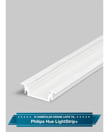 Aluminiumsprofil - Model G til Philips Hue LightStrip Plus