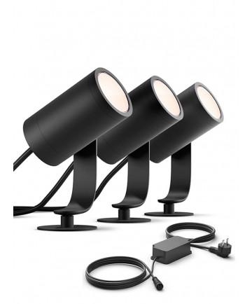 Philips Hue Outdoor Lily - Base Kit - 3-pak - Udendørs - Gratis levering