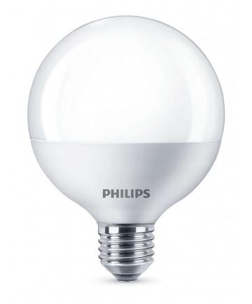 LED globe pære - Philips - 9,5cm - mat