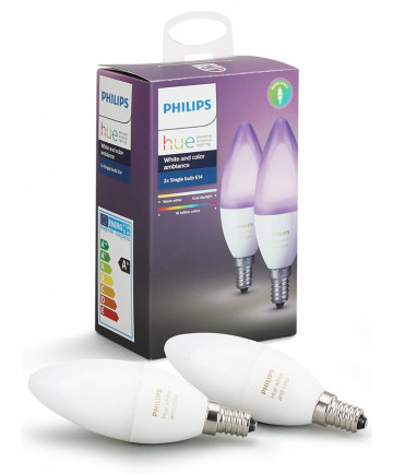 Philips Hue Color E14 LED pære farvet - Gratis levering