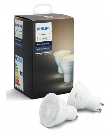Philips Hue White Ambiance GU10 LED spot - 2-pack