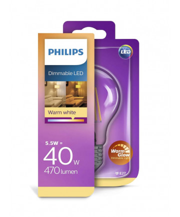 Philips LED - 5.5W - Warm Glow (dæmpbar)