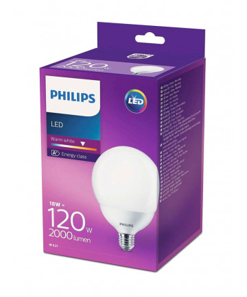 Philips LED Globe Pære - 18W
