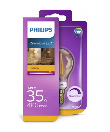 E14 - Philips LED Krone - 5W (dæmpbar)