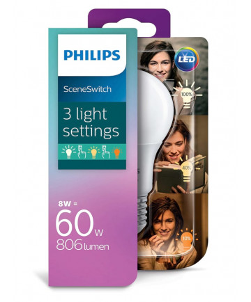 Philips SceneSwitch LED pære - Dæmpbar uden lysdæmper