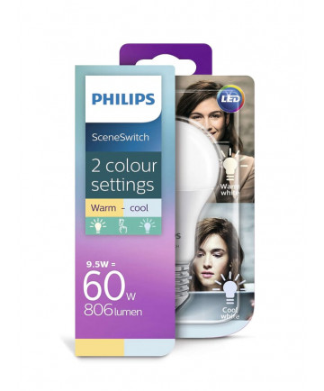 Philips SceneSwitch LED pære - 9.5W