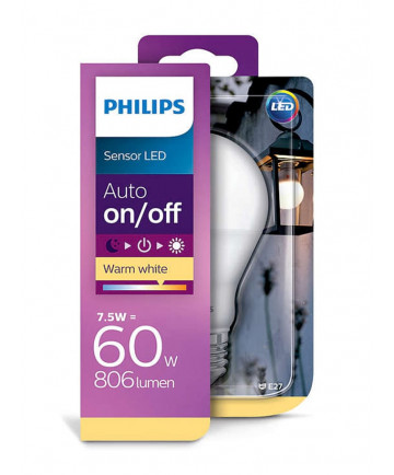 Philips sensor LED - 7.5W - Auto on/off - Gratis Levering
