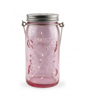 Tivoli LED Glas Lanterne - Pink glas - Jar Light