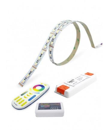 RGBW LED Bånd - 5m - Komplet sæt